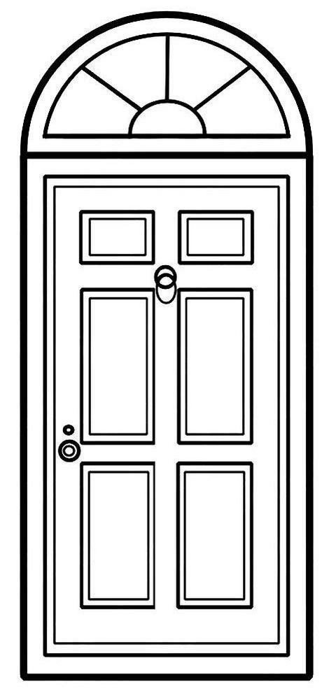 Ancient Door Coloring Page Design