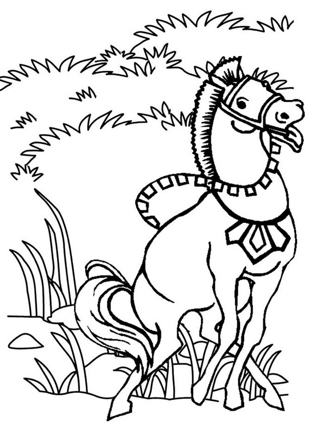 horse dancing coloring page
