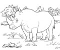 Top 10 Giant Rhinoceros Coloring Pages for Kids