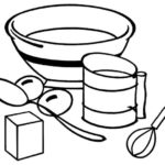 Baking Essentials and Tools Coloring Page