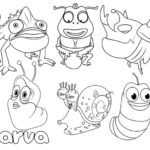 Best Larva Animation Coloring Page for Kids