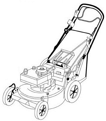 Lawn Mower Argiculture Equipment Drawng Picture