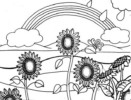6 Beautiful Sunflower Coloring Pages for Girls