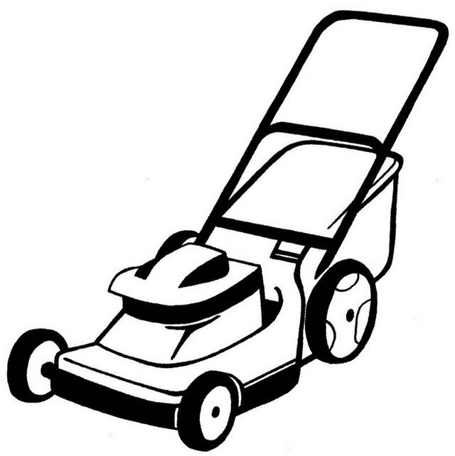 best lawn mower clipart picture