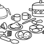 kitchen hand tools coloring page