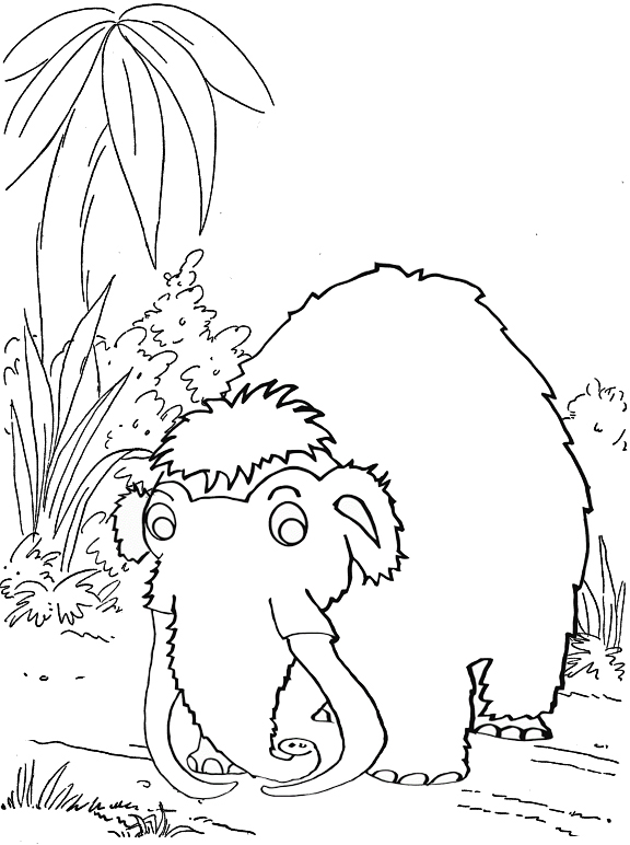 mammoth savannah coloring page