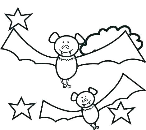 twin bats cartoon coloring page