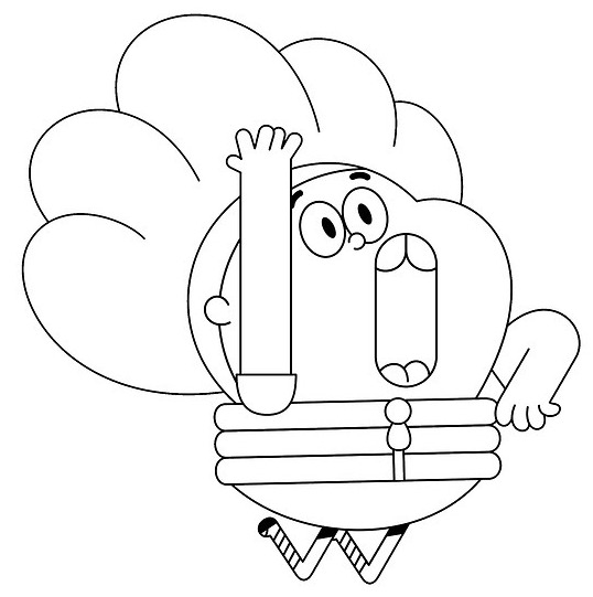 Babs from Pinky Malinky Coloring Page for Kids