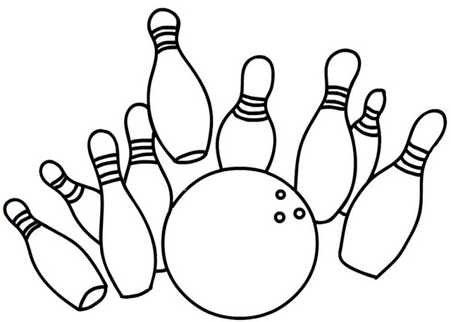 Best Bowling Coloring Page for Kids
