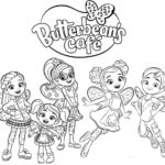 Best Butterbeans Cafe Coloring Page for Little Girls