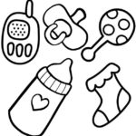 Best Printable Baby Accessories Coloring Page