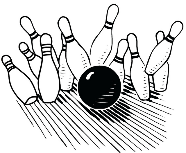 Bowling Skittle Alley Coloring Page
