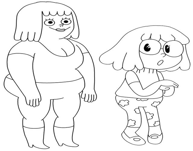 Brenda Mary and Malessica from Clarence Coloring Page