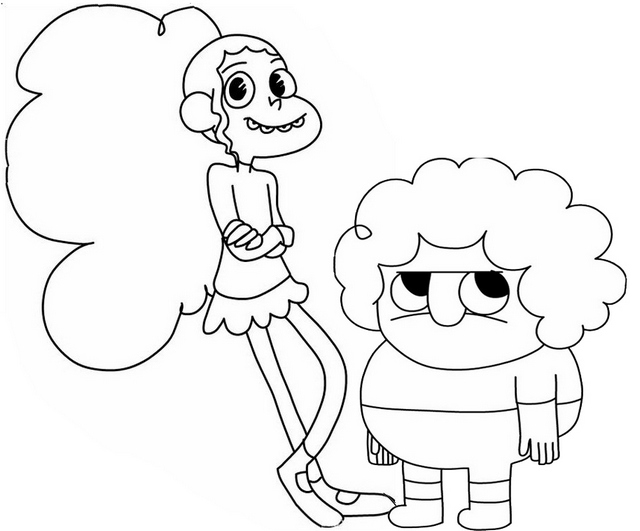 Chelsea and Belson from Clarence Coloring Page