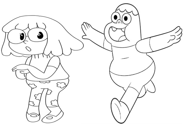 Clarence and Malessica from Clarence Coloring Page