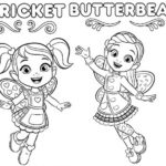 Cricket and Butterbean Coloring Page