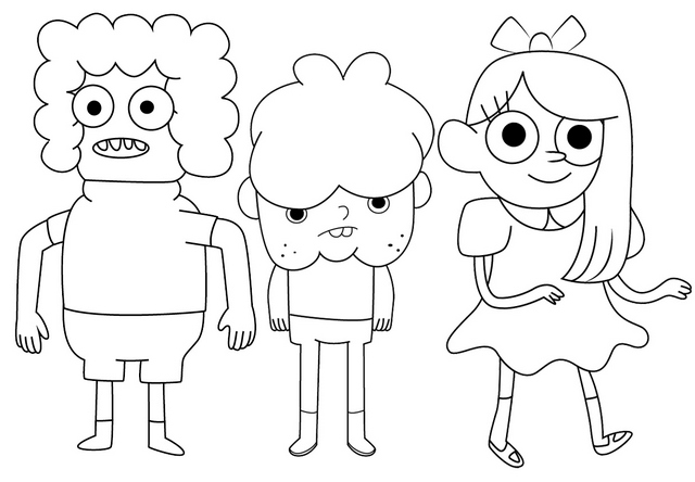 Gilben Camden and Kimby from Clarence Coloring Page