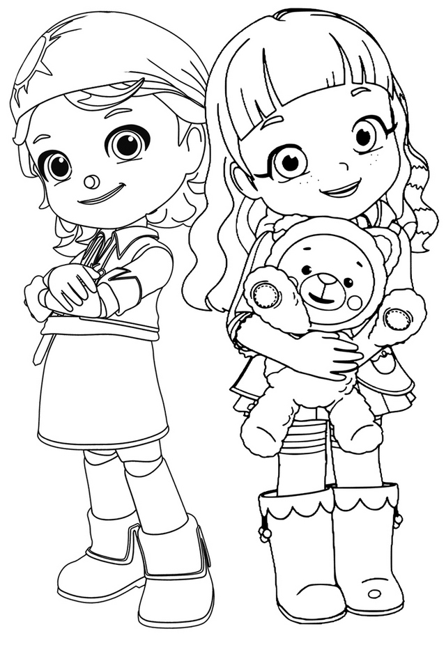 Gina and Ruby Love Beloved Teddy Bear Choco Coloring Page