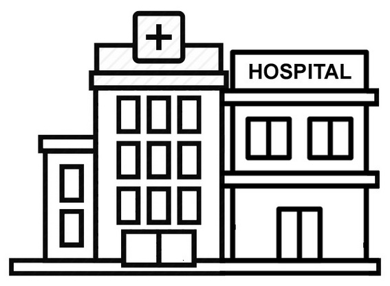 Hospital Healthcare Coloring Page