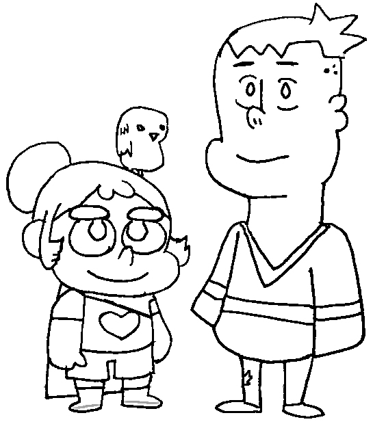 J P Mercer and Kelsey Bern Coloring Page of Craig of The Creek