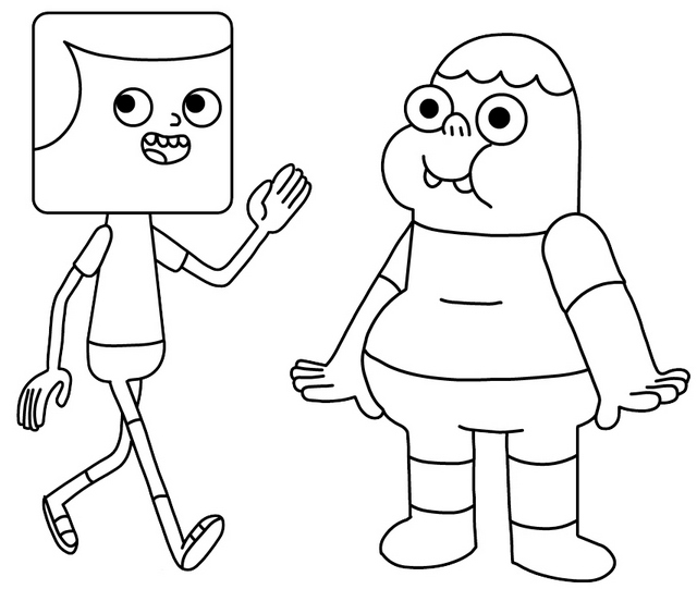 Jeff and Clarence Coloring Page