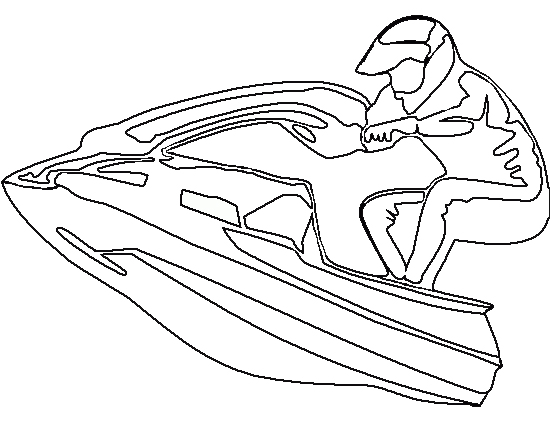 Jet ski stand up sport coloring page