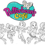 New Series of ButterBeans Cafe Coloring Page
