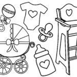Newborn Baby Checklist Coloring Page