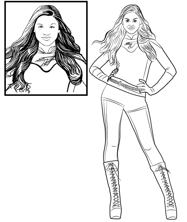 Phoebe Thundermans Coloring Page