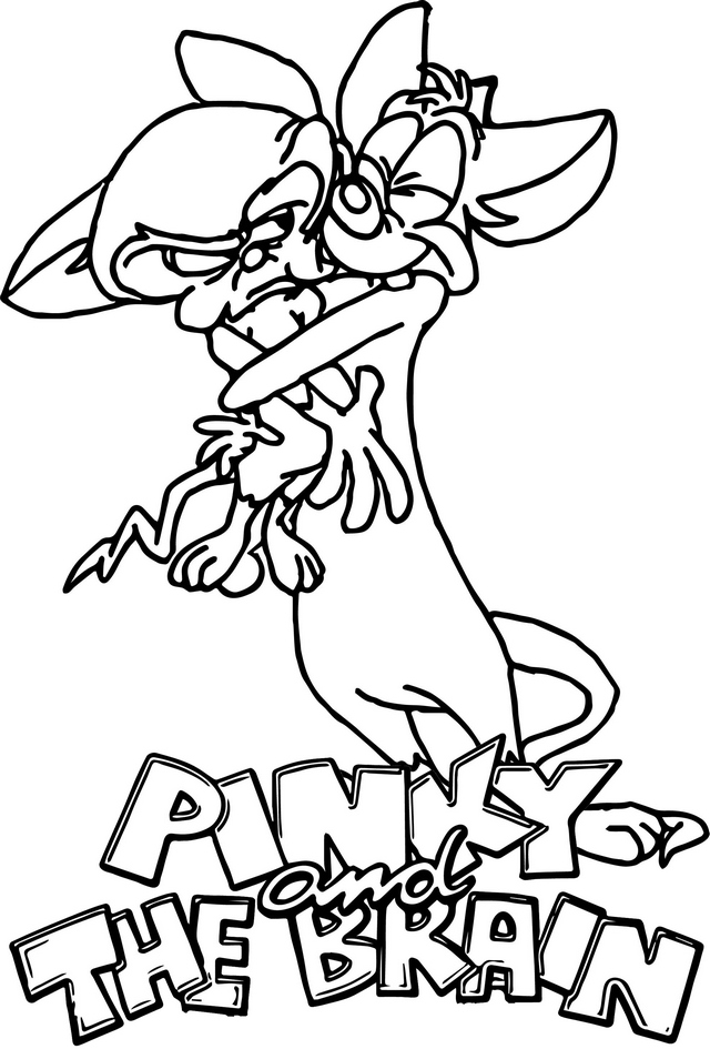 Pinky and the Brain Hugging Coloring Page