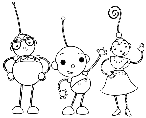 Polina Percy Coloring Page of Rolie Polie Olie