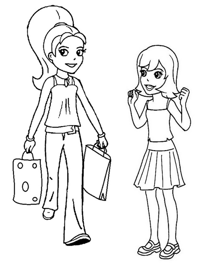 Polly Bringing gifts to Lea Coloring Page