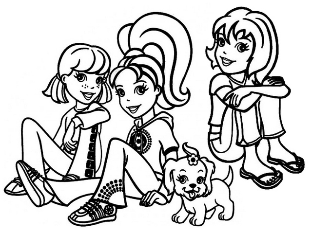 Polly and Friends from Polly Pocket Coloring Page