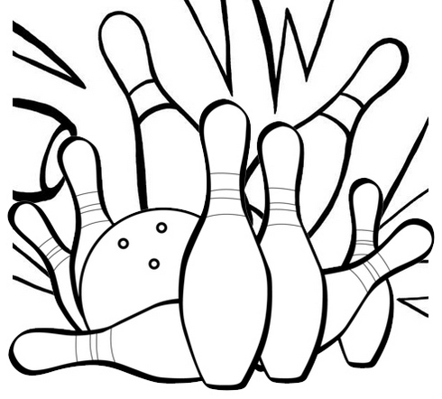 Strike Out Bowling Coloring Page