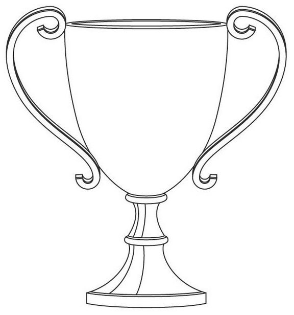 Trophy Cup Coloring Page
