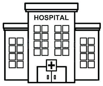 hospital clipart coloring page