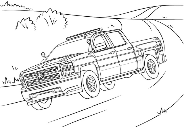 single cab chevy truck coloring page