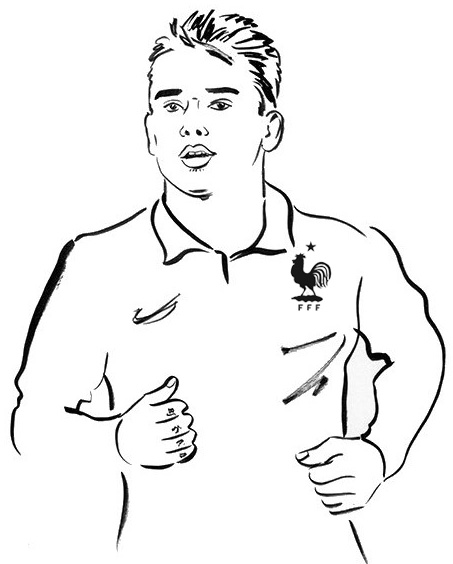 Best Griezmann Coloring Page for soccer fans