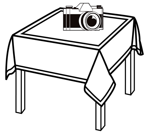 Best camera above table coloring page