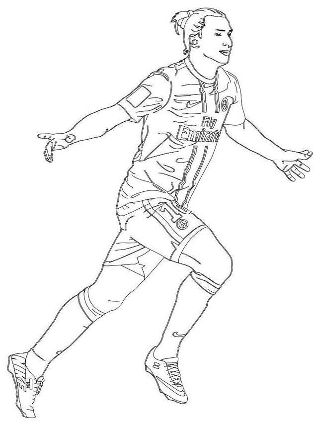 Professional Footballer Zlatan Ibrahimovic Coloring Page