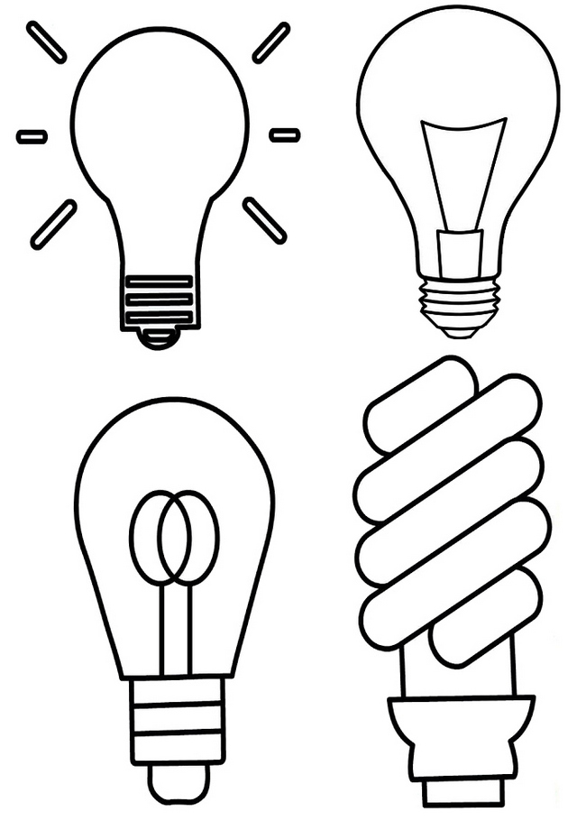 types of lamp coloring page