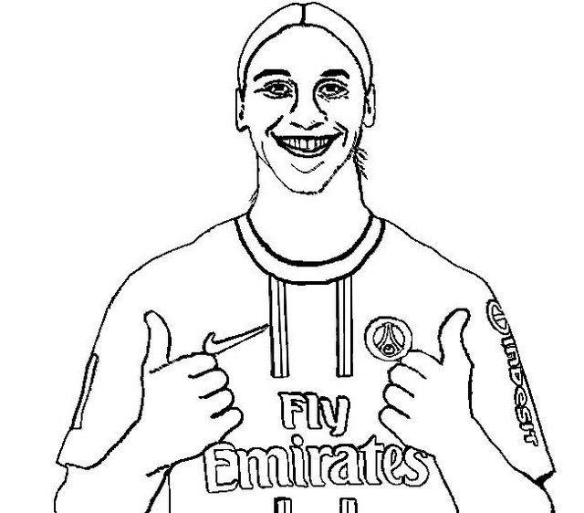 Zlatan Ibrahimovic Striker Coloring Page