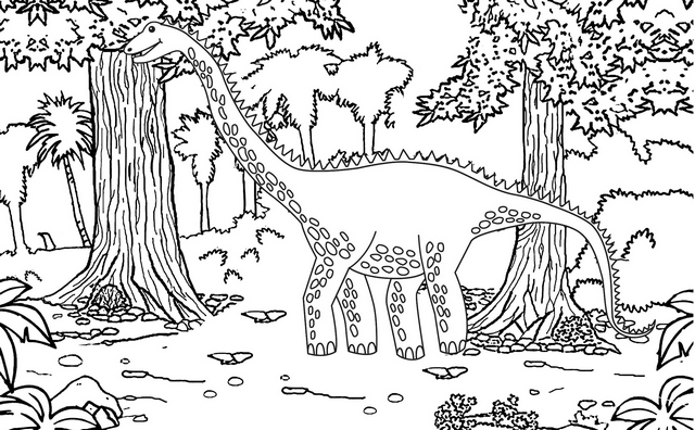 diplodocus jurassic park coloring page