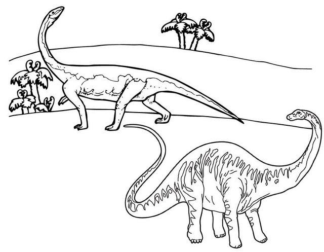 great awesome diplodocus dino coloring page