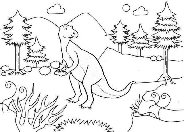 iguanodon disney coloring page
