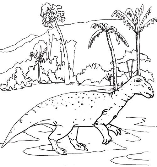 iguanodon jurassic park coloring page