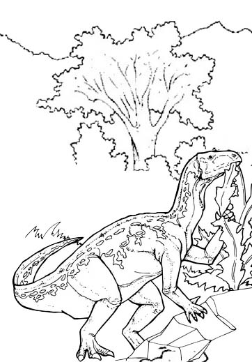kids collection iguanodon coloring page