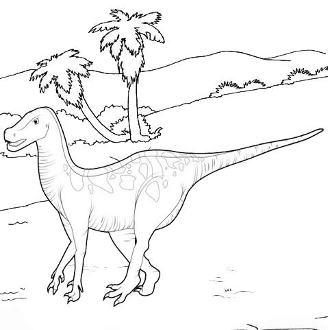 natural history iguanodon coloring page