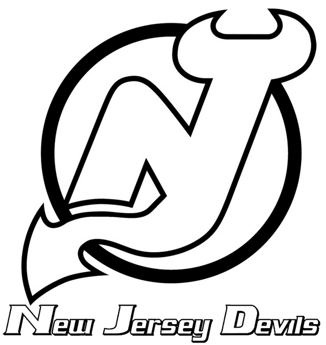new jersey devils national hockey league clipart picture