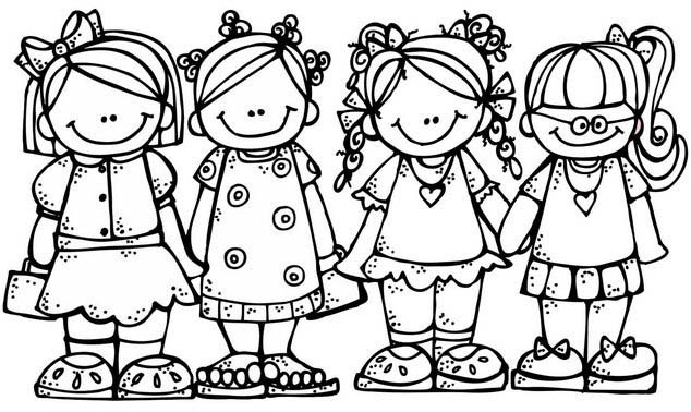 BFF Coloring Page of Friends for Girls